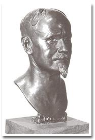 Self-portrait bust