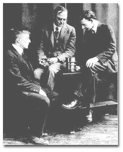 From left to right, Irving Langmuir, Willis R. Whitney, and William D. Coolidge, 1909