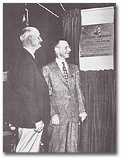 Dr. Christie and Dr. Coolidge at the dedication of the Coolidge Laboratory