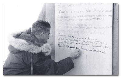 Ben H. Bagdikian In 1957 I took a journalistic trip to the Antarctic where, at the U.S. base on McMurdo Sound, reporters registered their names.