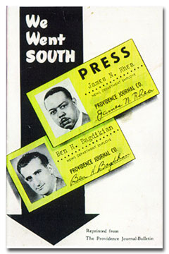 Ben H. Bagdikian This is the cover of a pamphlet The Providence Journal put out reprinting the account of the paper's black reporter and me, testing the Deep South in the depth of the Little Rock crisis to record differences in treatment of blacks and whites.
