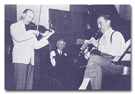 Recording Contrasts with Jospeh Szigeti and Benny Goodman in April of 1940