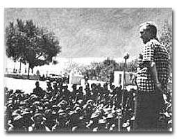 Ambassador Bowles addressing Indian troops