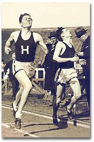 Arthur, at left, competing at Harvard.