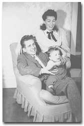 Jack and Muriel Hayward with son Peter, 1948.