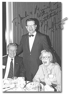 Jack and Muriel Hayward with Senator Paul Simon, their candidate for President of the United States.