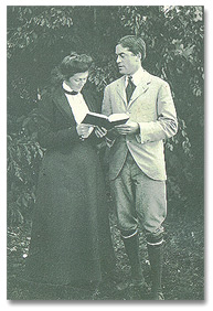 Engagement picture, HWF with Eleanor T. Cope, 1902.