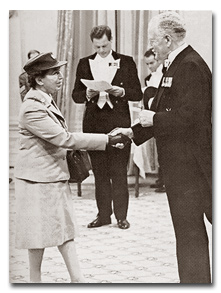 Dr Lotta receiving the Order of Canada from Governor General Roland Michener in 1972.