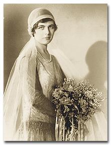 Martha Sharp's wedding day