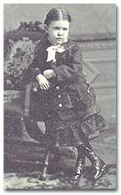 Moore as a child