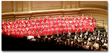 The CCC's 1997 Carnegie Hall debut.