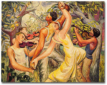 "Park's ""Three Violinists and Dancers"""