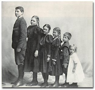The Baldwin Children: Roger, Margaret, Ruth, Deborah, Herber, and Robert. (Courtesy of Peggy Lamson)