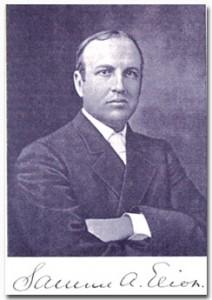 Portrait and signature, circa 1908