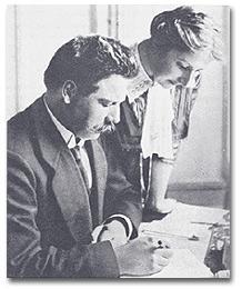 Schweitzer and wife