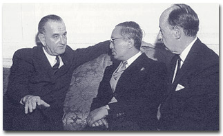 LBJ, U Thant, and Stevenson