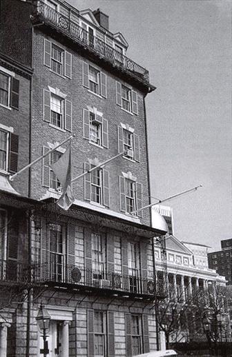 American Unitarian Association, Boston. Next to Massachusetts State House.