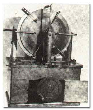 Early X-ray equipment of the type used by Dr. Cannon