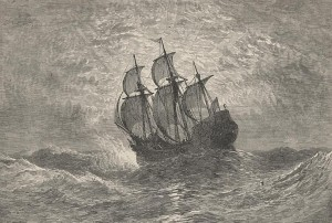 The Mayflower at Sea, Courtesy of Pilgrim Hall Museum (www.pilgrimhall.org)
