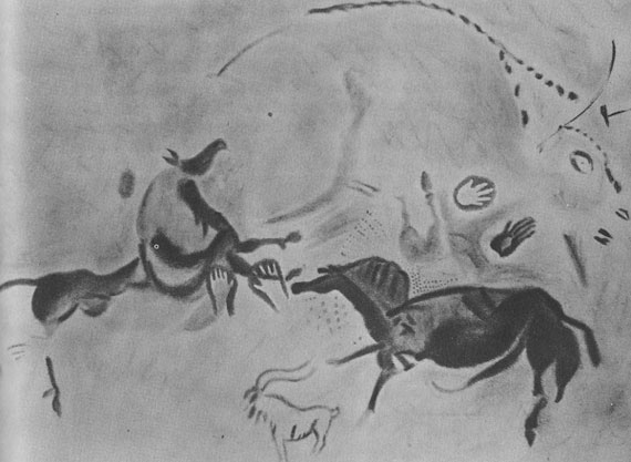 Cave Painting showing Hands Courtesy of the American Museum of Natural History