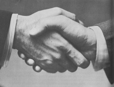 Shaking Hands, by  Armstrong Roberts
