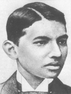 Gandhi as a young man