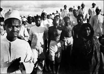 Gandhi on the Salt March