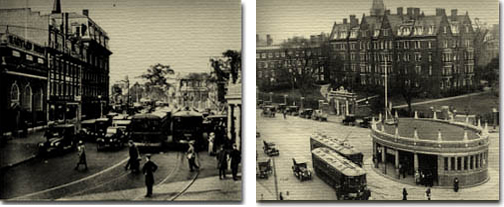 Harvard Square in the 1920's (Cambridge Historical Society)
