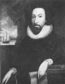 John Winthrop (1588-1649), first Governor of the Massachusetts Bay Colony. This portrait by an unknown artist hangs in the Massachusetts State House. The presence at the Cambridge Church gathering of Governor Winthrop and other leaders of the colony is an indication of the importance attached to the occasion.