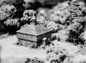 Model of the Second Meeting House from the Harvard Diorama