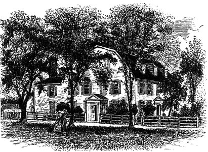The Holmes Residence in 1807.