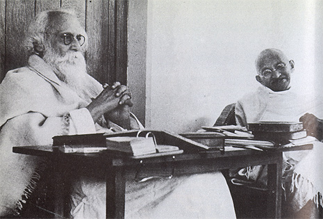 Tagore and Gandhi in 1940