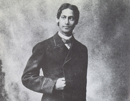 Young Rabindranath Tagore  in England