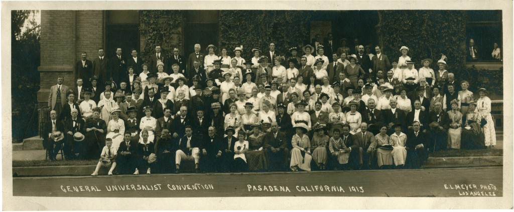 General Universalist Convention, Pasadena, 1915, front. Courtesy of the Andover-Harvard Theological Library.