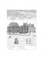 Copper Engraving of Massachusetts and the First Stoughton Hall, by Paul Revere