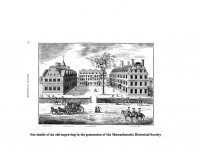 Fac-similie of an Old Engraving of the College Halls