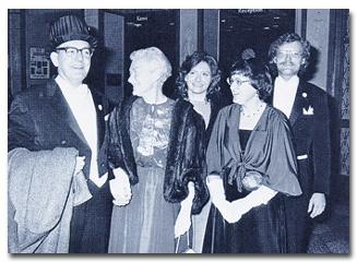 Simon family during Nobel Week