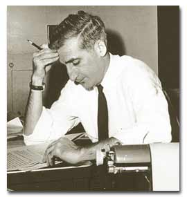 Ben H. Bagdikian This is circa 1952 in the newsroom of The Providence Journal