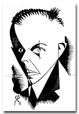 A caricature of Bartok from Radio Times, May 18, 1934