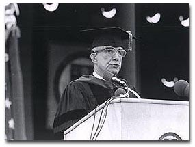 Fuller at Boston College's graduation