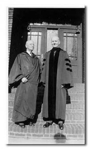 Burdette Backus, right, with Dr. Wicks.