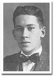 Graduation photo from Harvard College, 1915