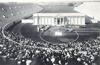 Harvard Stadium with performance of Aeschylus' Agamemnon (1906).