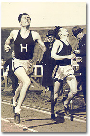 Arthur, at left, competing at Harvard.