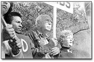 1976 - Interfaith Hunger Coalition Marches on Rockwell International protesting the B-1 Bomber.