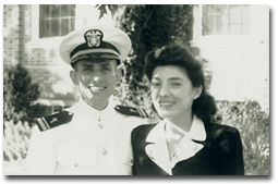 At Navy chaplain school, Williamsburg, VA, 1943.