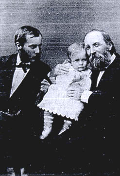 Thomas Hill with son and grandson.
