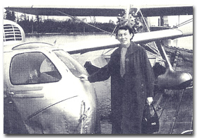 Laurence with seaplane