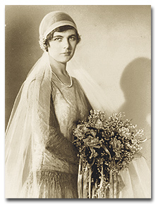 Martha Sharp's wedding day