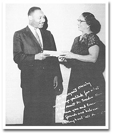 Moseley with Dr. King